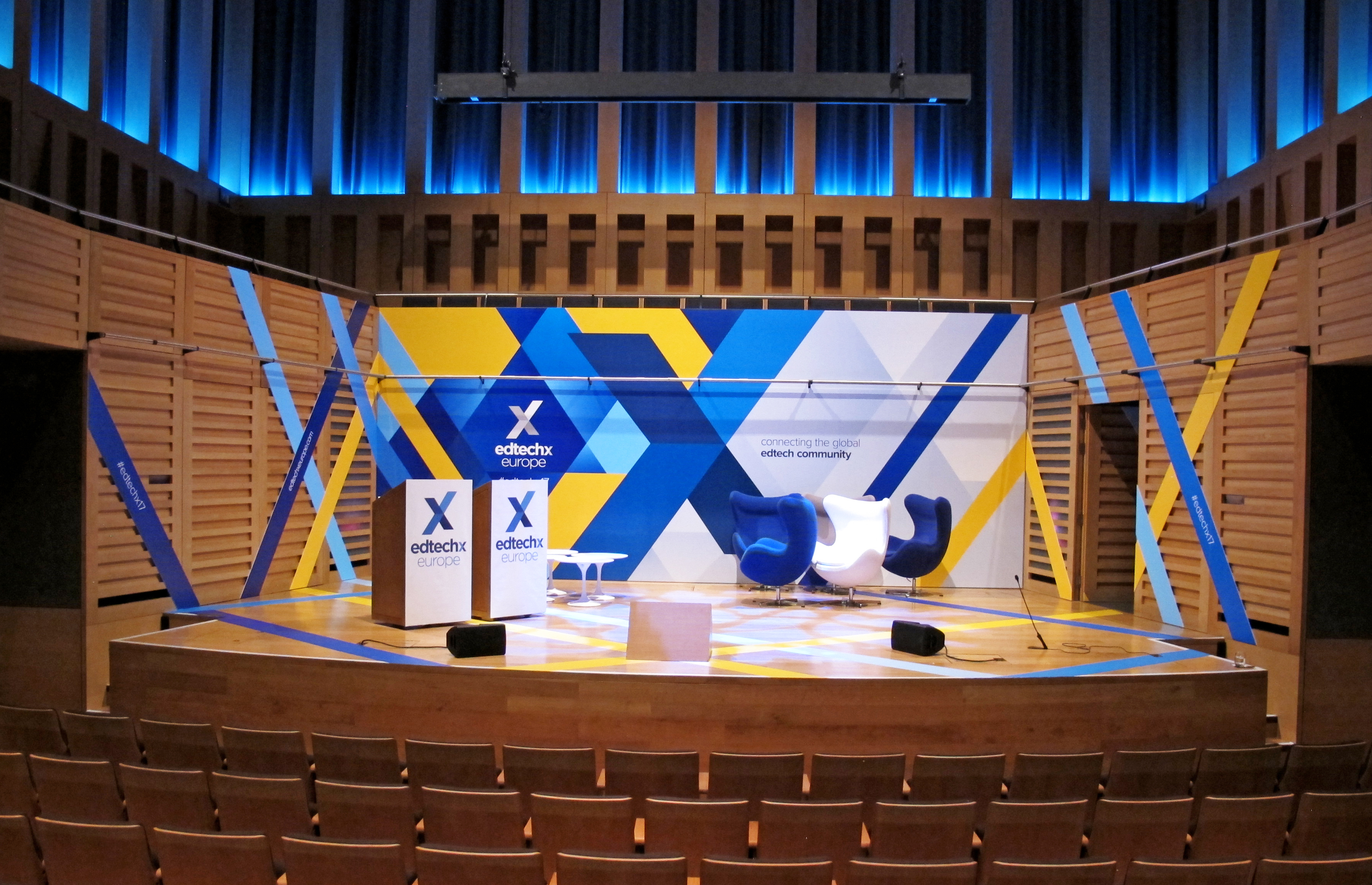 EdTechXEurope Conference graphics Install
