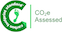 Carbon footprint standard CO2 Assessed logo