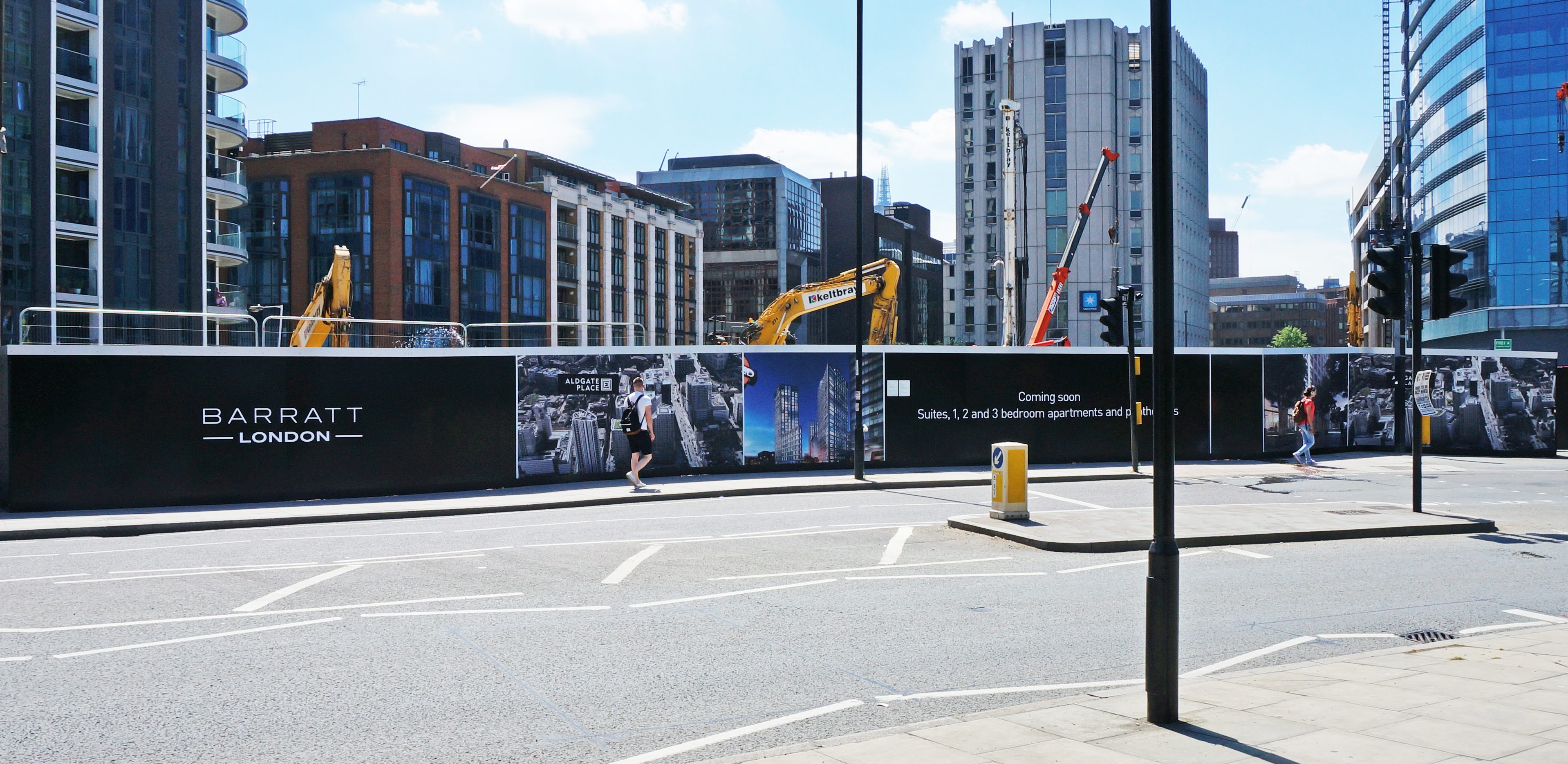 Barratt Homes Aldgate hoarding