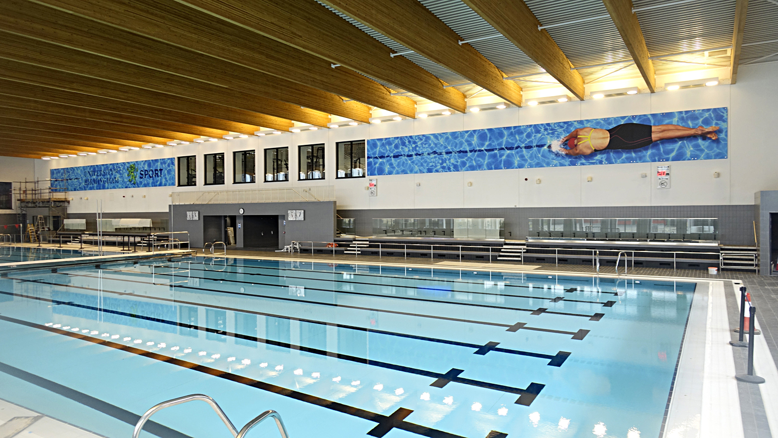 Birmingham University Pool Graphics Installation